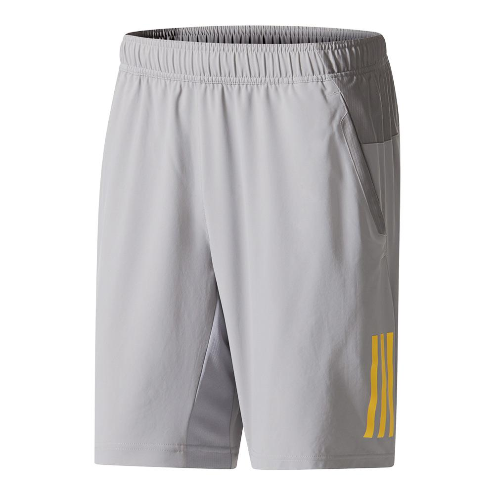 Men's Club Tennis Short Gray And Eqt Yellow