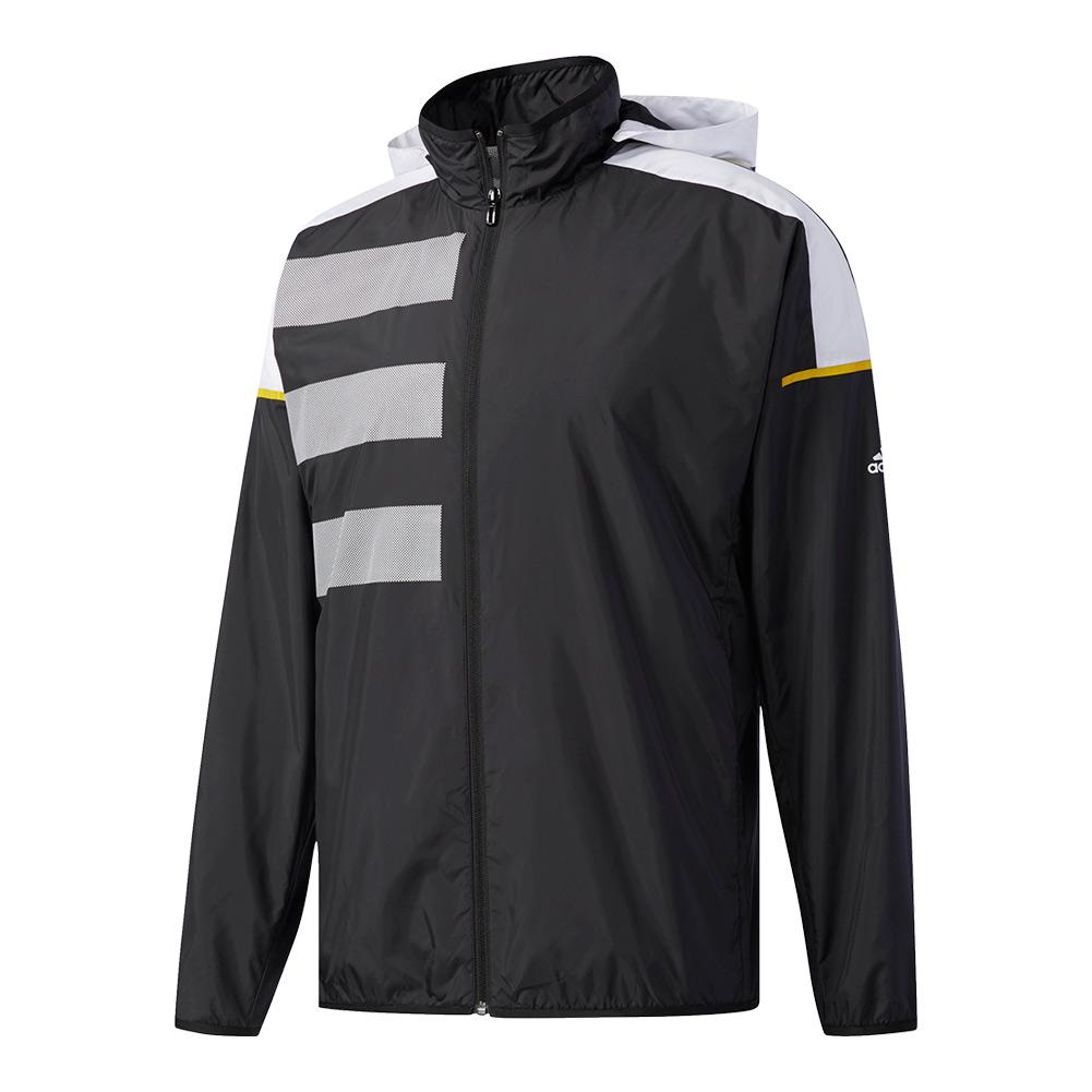 Men's Club Mesh Tennis Jacket Black And White