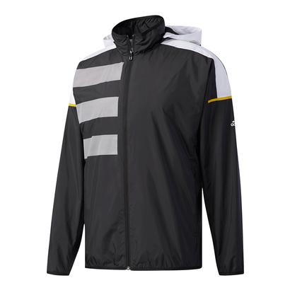Men`s Club Mesh Tennis Jacket Black and White