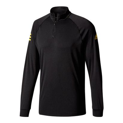 Men`s Club Half-Zip Midlayer Tns Top Black and Eqt Yellow