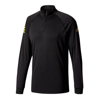 Men`s Club Half-Zip Midlayer Tns Top Black and Eqt Yellow