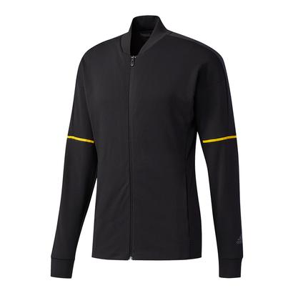 Men`s Club Knit Tennis Jacket Black and Eqt Yellow