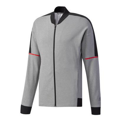 Men`s Club Knit Tennis Jacket Core Heather and Black