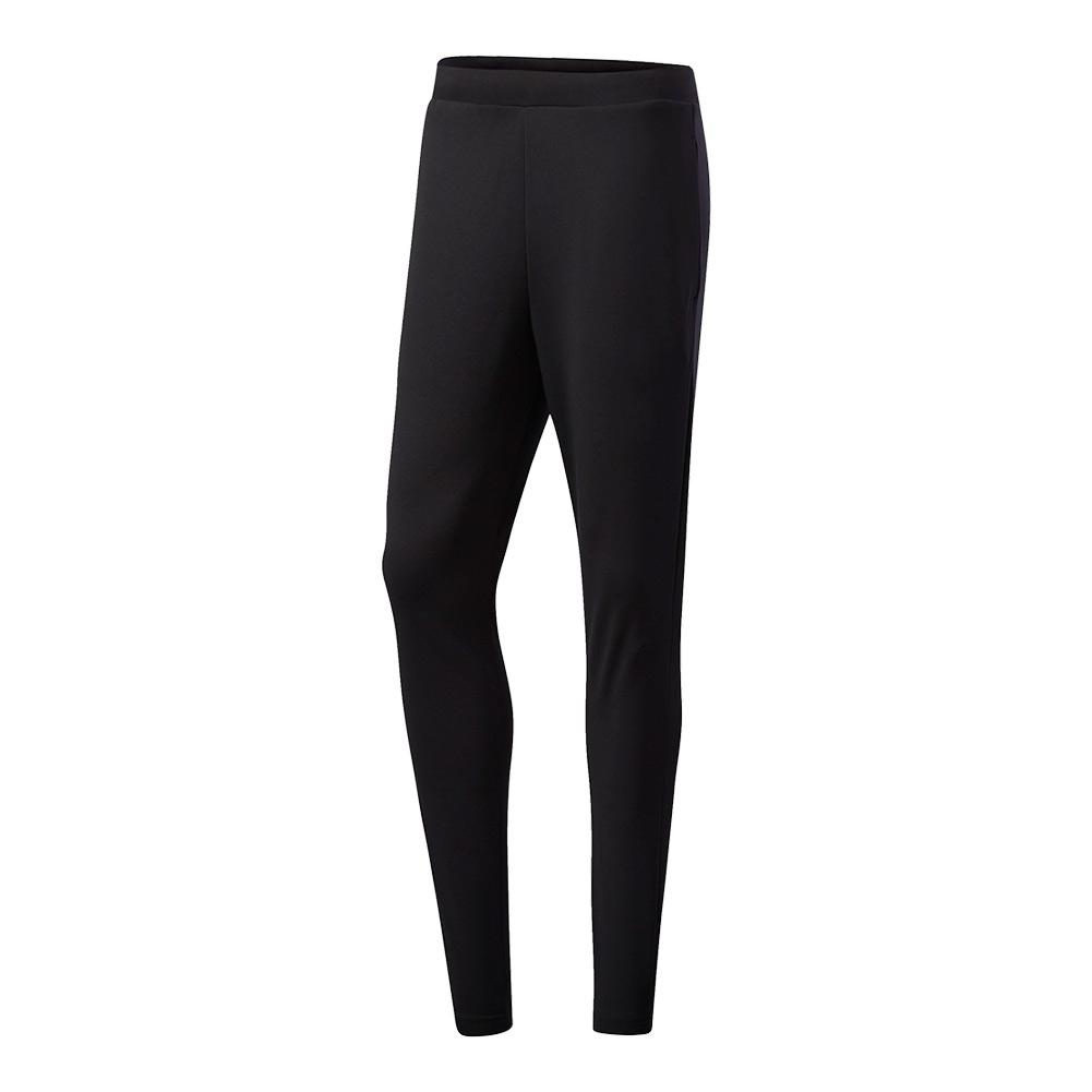 Men's Club Knit Tennis Pant Black And Eqt Yellow
