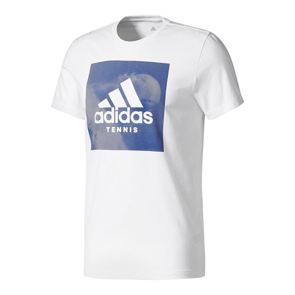 Men's Graphic Tennis Tee White