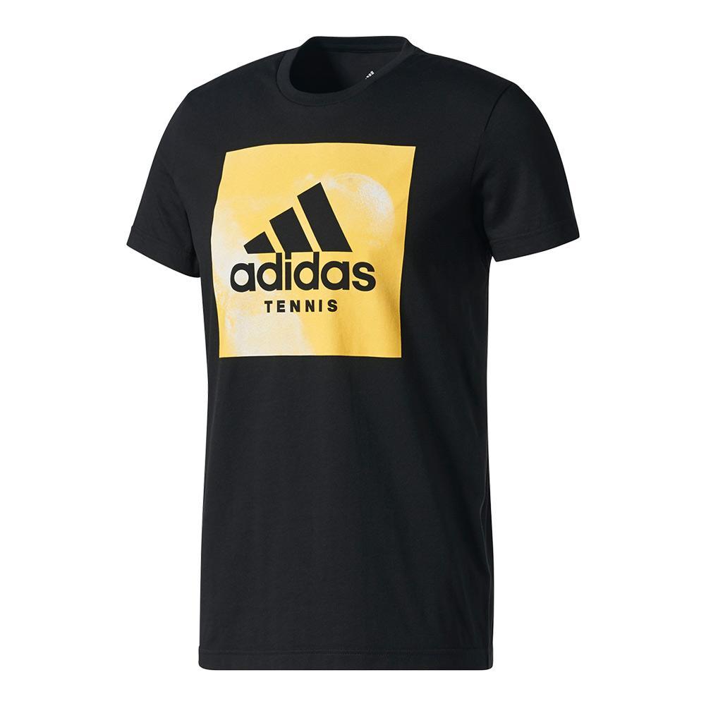 Men's Graphic Tennis Tee Black