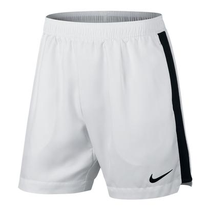 Men`s Court Dry 7 Inch Tennis Short White and Black