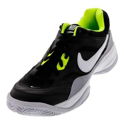 Men`s Court Lite Tennis Shoes Black and Wolf Gray