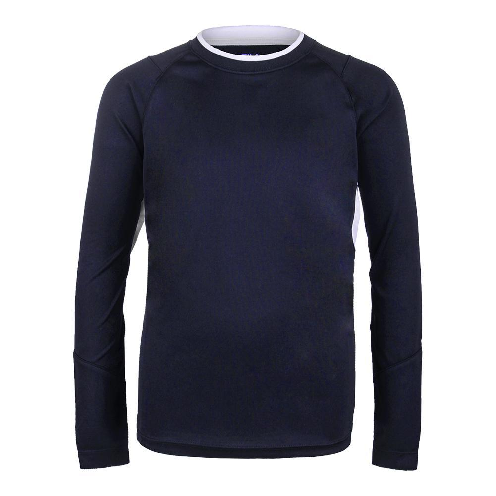 Boys ` Fundamental Long Sleeve Tennis Top