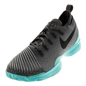 Men`s Air Zoom Ultra React Tennis Shoes Dark Gray and Aurora Green