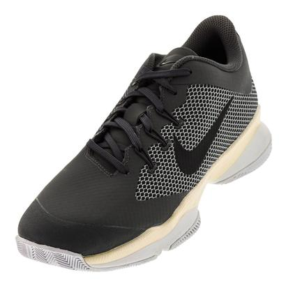 Women`s Air Zoom Ultra Tennis Shoes Dark Gray and Black