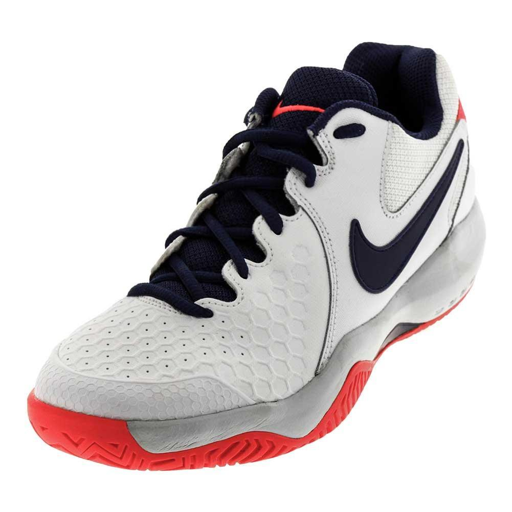 Women's Air Zoom Resistance Tennis Shoes White And Red