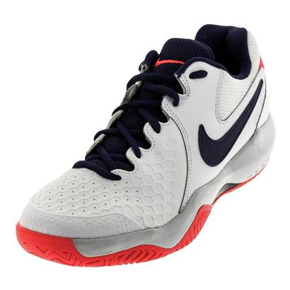 Women`s Air Zoom Resistance Tennis Shoes White and Red