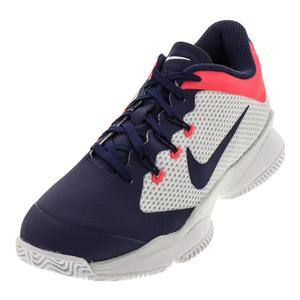 Women`s Air Zoom Ultra Tennis Shoes White and Binary Blue