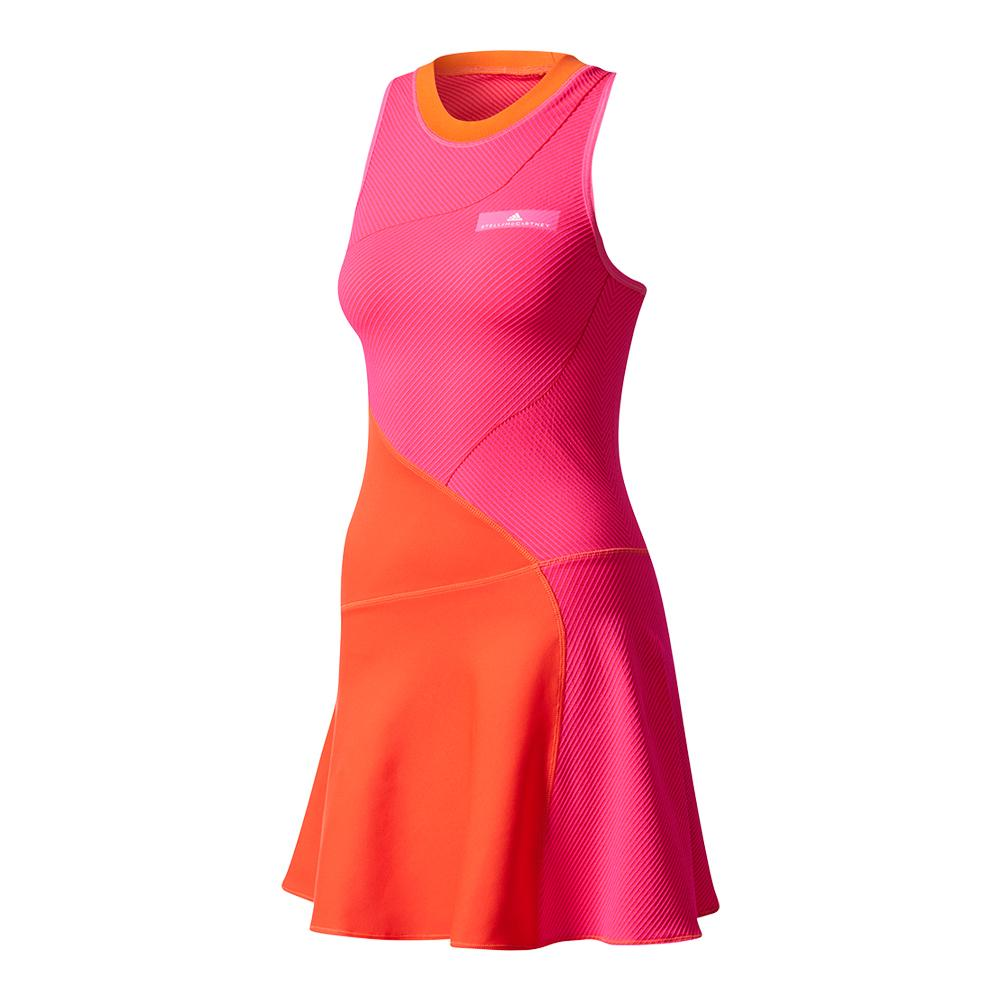 Women's Stella Mccartney Barricade New York Tennis Dress Core Red And Shock Pink