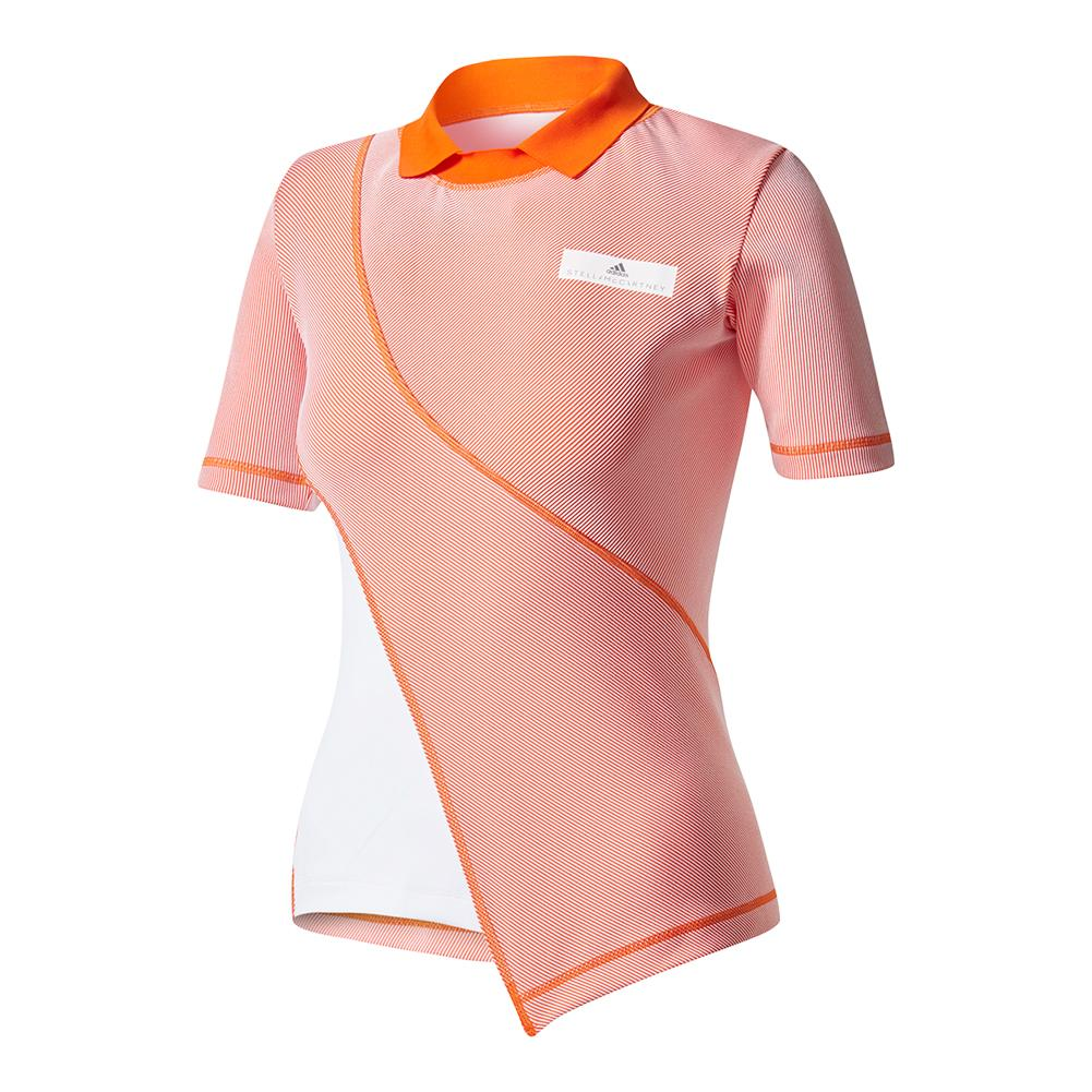 Women's Stella Mccartney Barricade Ny Tennis Tee Radiant Orange And Shock Pink