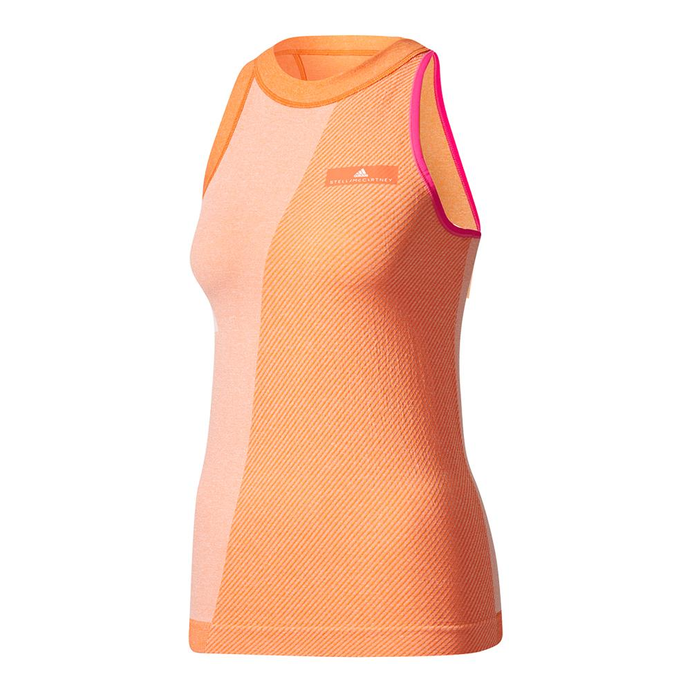 Women's Stella Mccartney Barricade New York Tennis Tank White And Radiant Orange