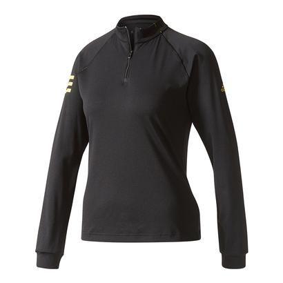 Women`s Club Midlayer Tennis Top Black