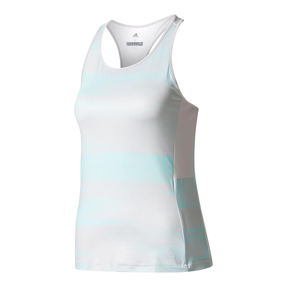 Women's Advantage Trend Tennis Tank Gray And Energy Aqua