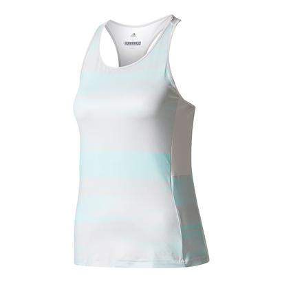 Women`s Advantage Trend Tennis Tank Gray and Energy Aqua