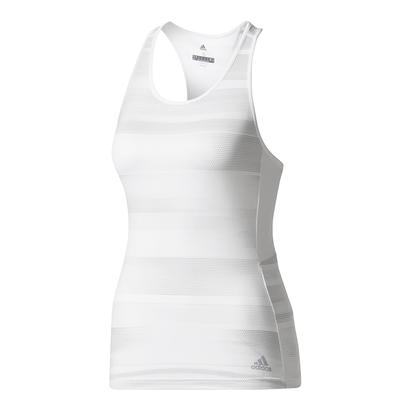 Women`s Advantage Trend Tennis Tank White and Gray