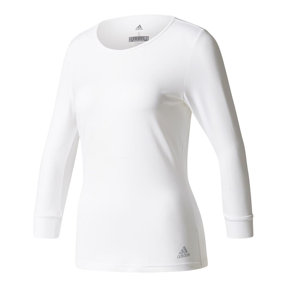 Women's Advantage Three Quarter Sleeve Tennis Tee White