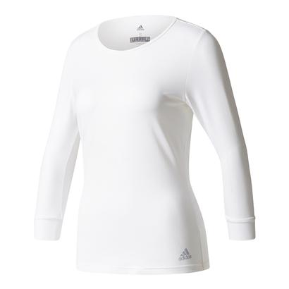 Women`s Advantage Three Quarter Sleeve Tennis Tee White