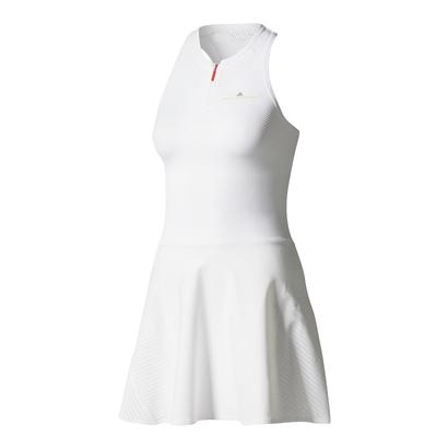 Women`s Stella McCartney Barricade Tennis Dress White and Gray Four