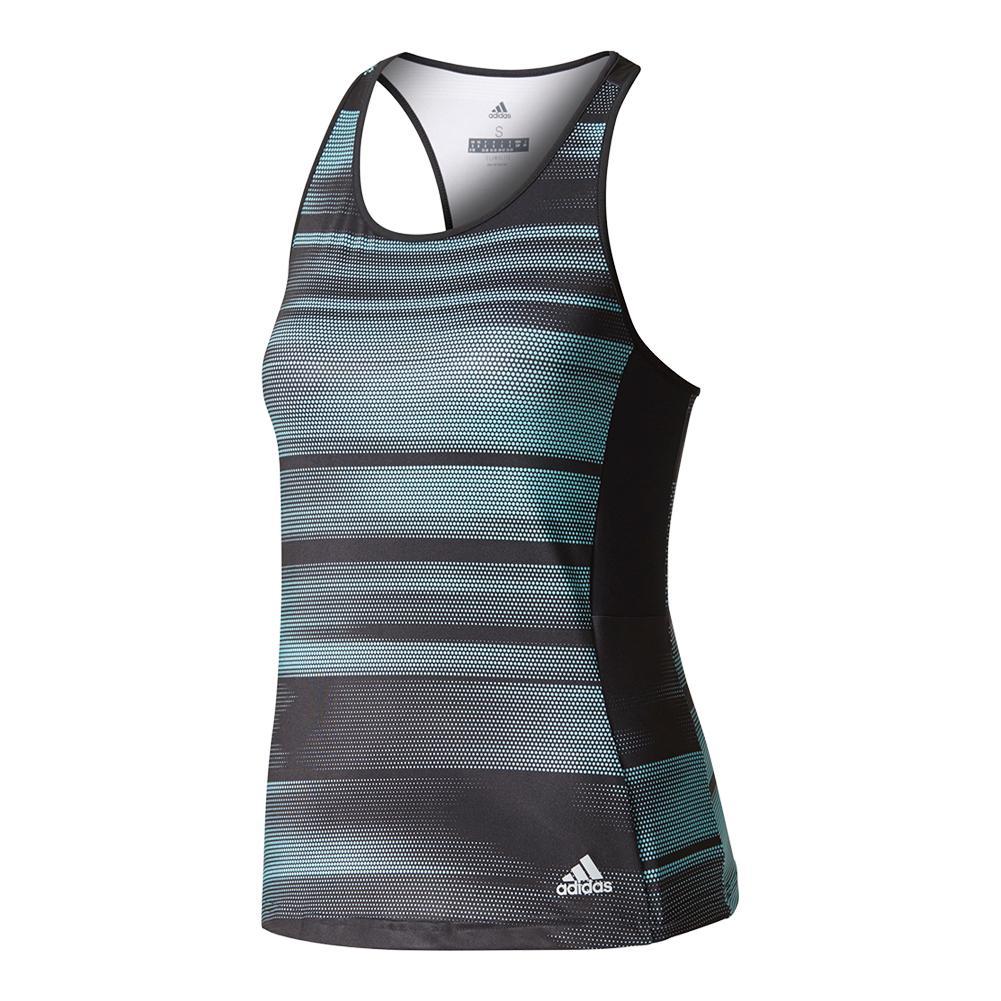 Women's Advantage Trend Tennis Tank Black And Energy Aqua