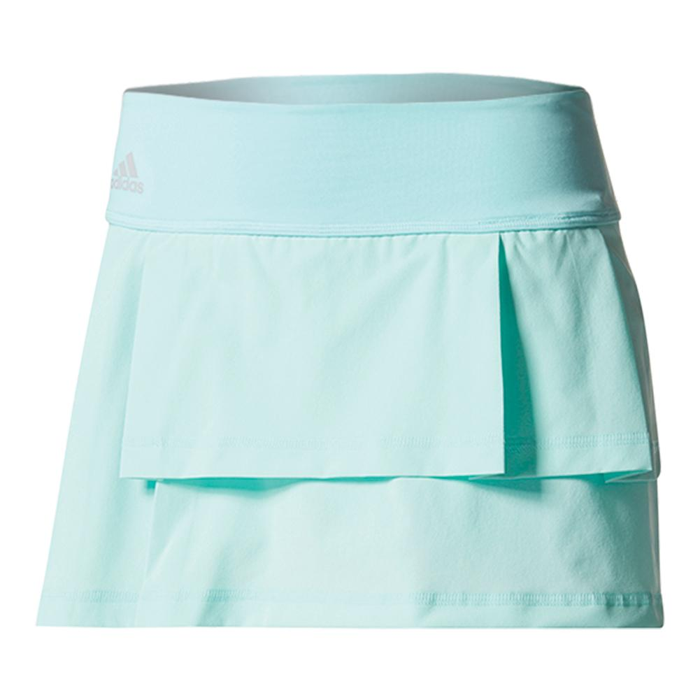 Women's Advantage Layered Tennis Skirt Energy Aqua