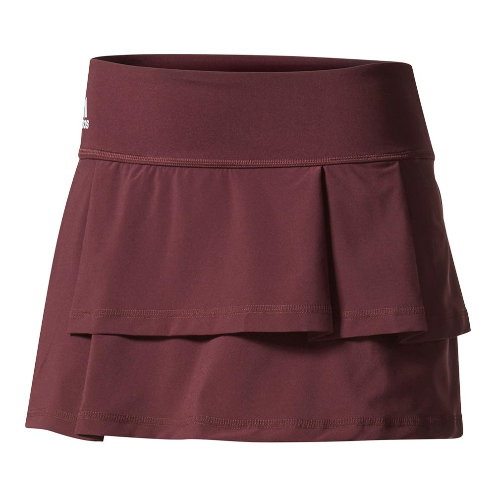 Women's Advantage Layered Tennis Skirt Dark Burgundy