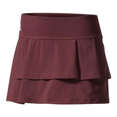 Women`s Advantage Layered Tennis Skirt Dark Burgundy