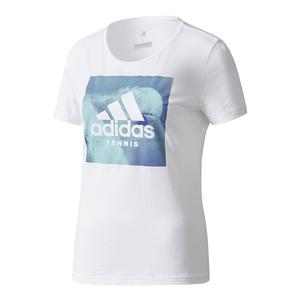 Women`s Category Graphic Tennis Tee White