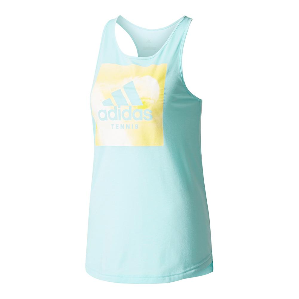 Women's Category Graphic Tennis Tank Energy Aqua