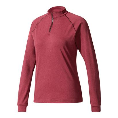 Women`s Club Midlayer Tennis Top Dark Burgundy
