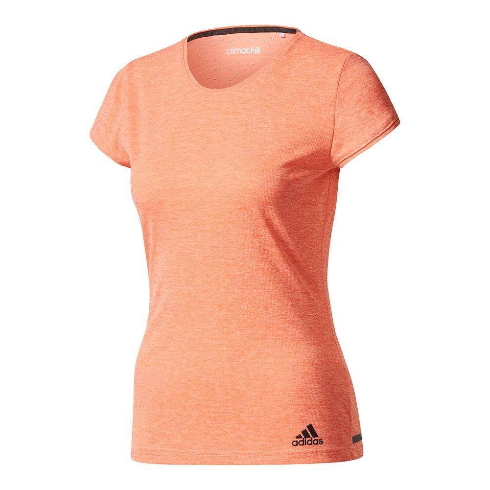 Women's Climachill Tennis Tee Sun Glow