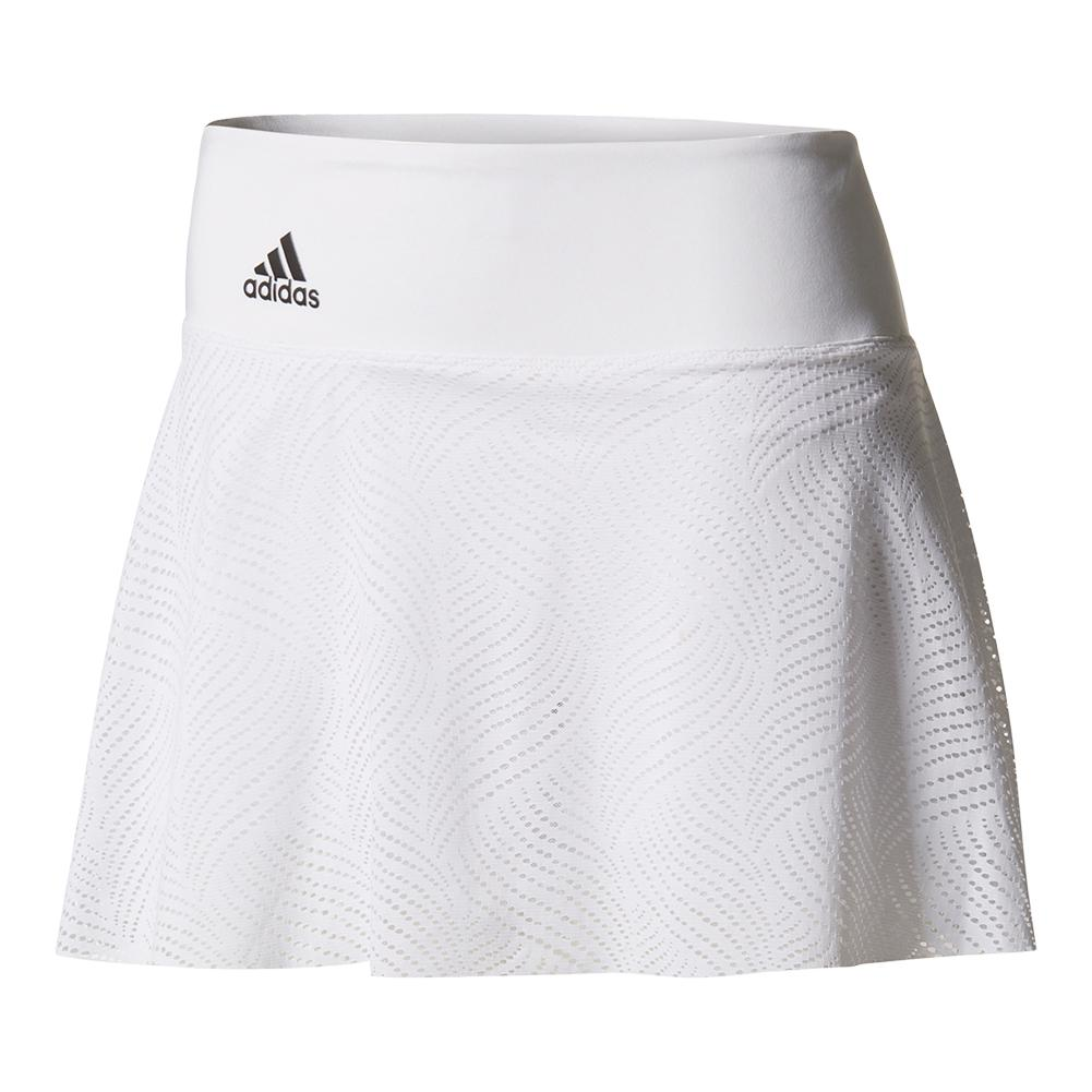 Women's London Line 11 Inch Tennis Skirt White