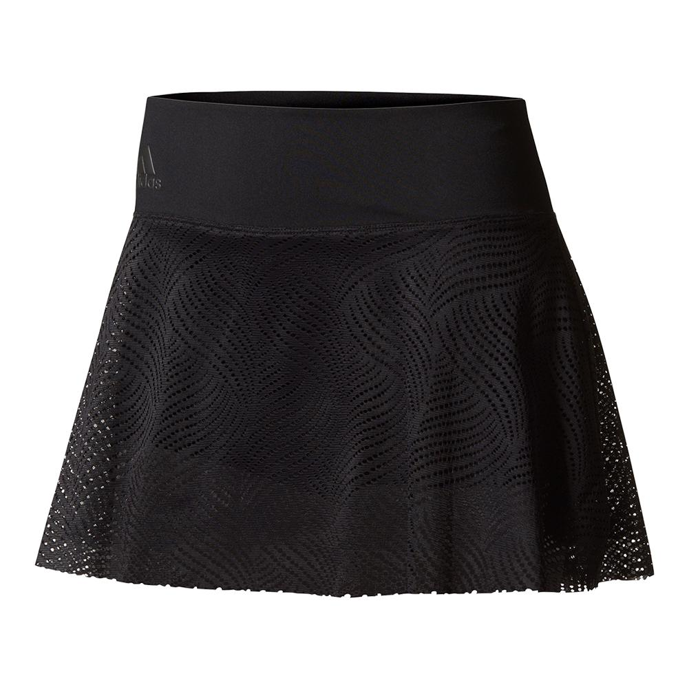 Women's London Line 11 Inch Tennis Skirt Black