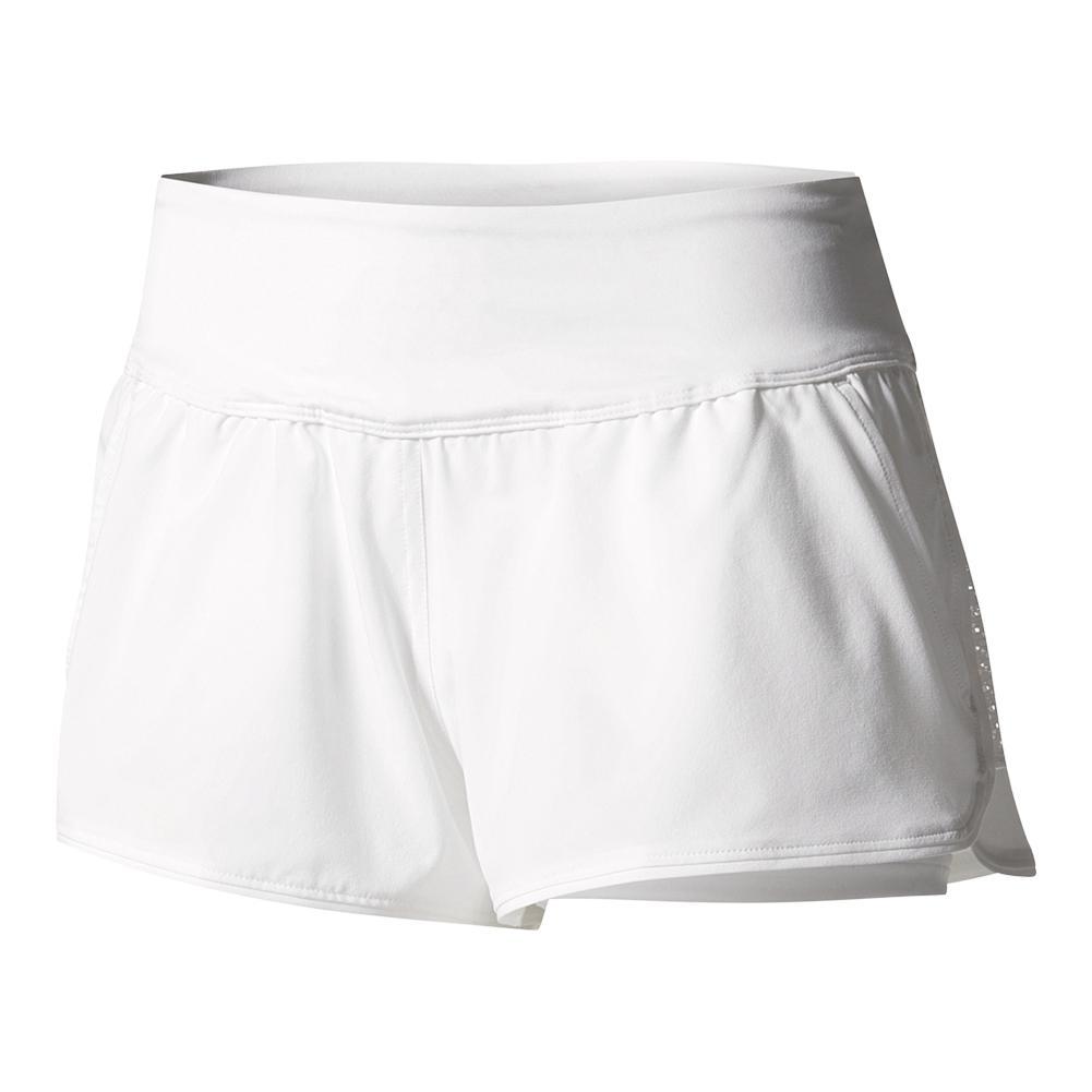 Women's London Line Tennis Short White