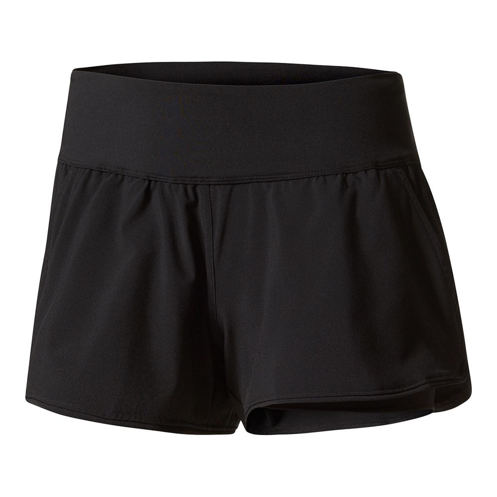 Women's London Line Tennis Short Black