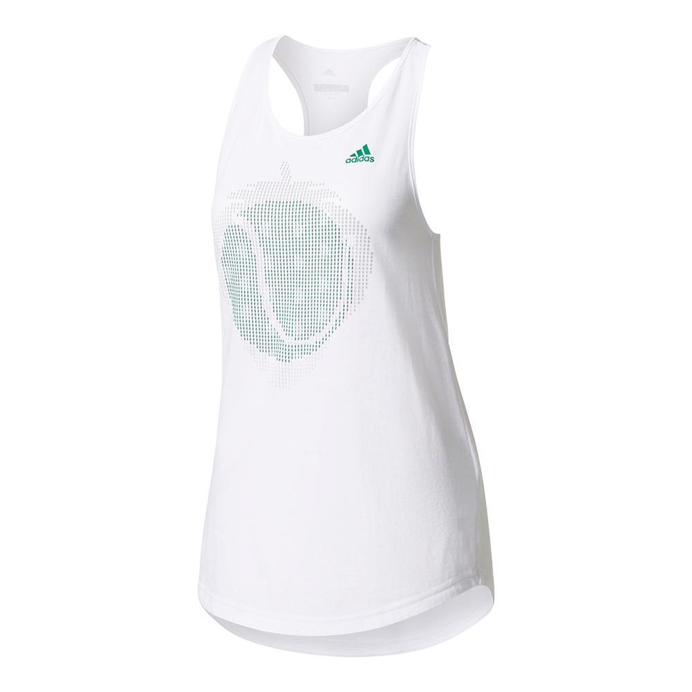 Women's London Line Graphic Tennis Tank White