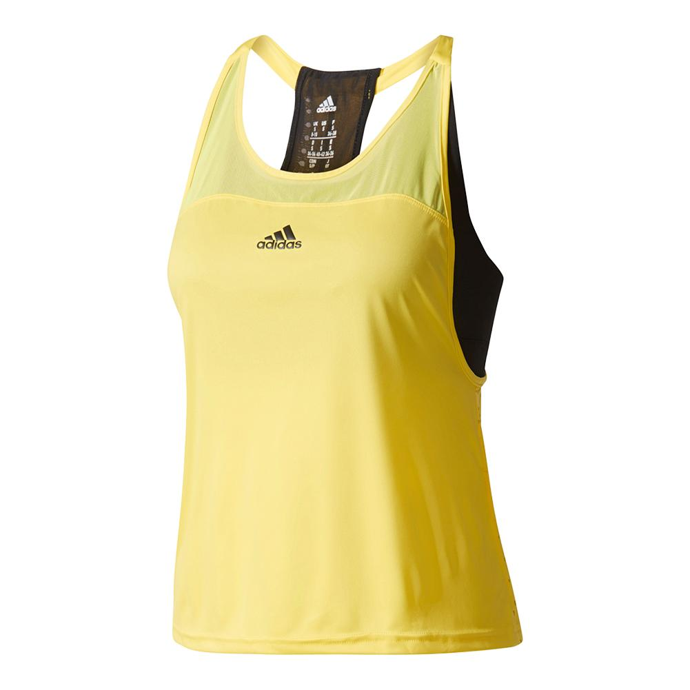 Women's Us Series Tennis Tank Bright Yellow And Black