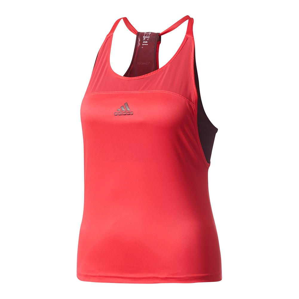Women's Us Series Tennis Tank Energy Pink And Dark Burgundy