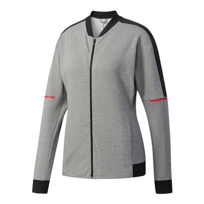 Women`s Club Knit Tennis Jacket Core Heather and Black