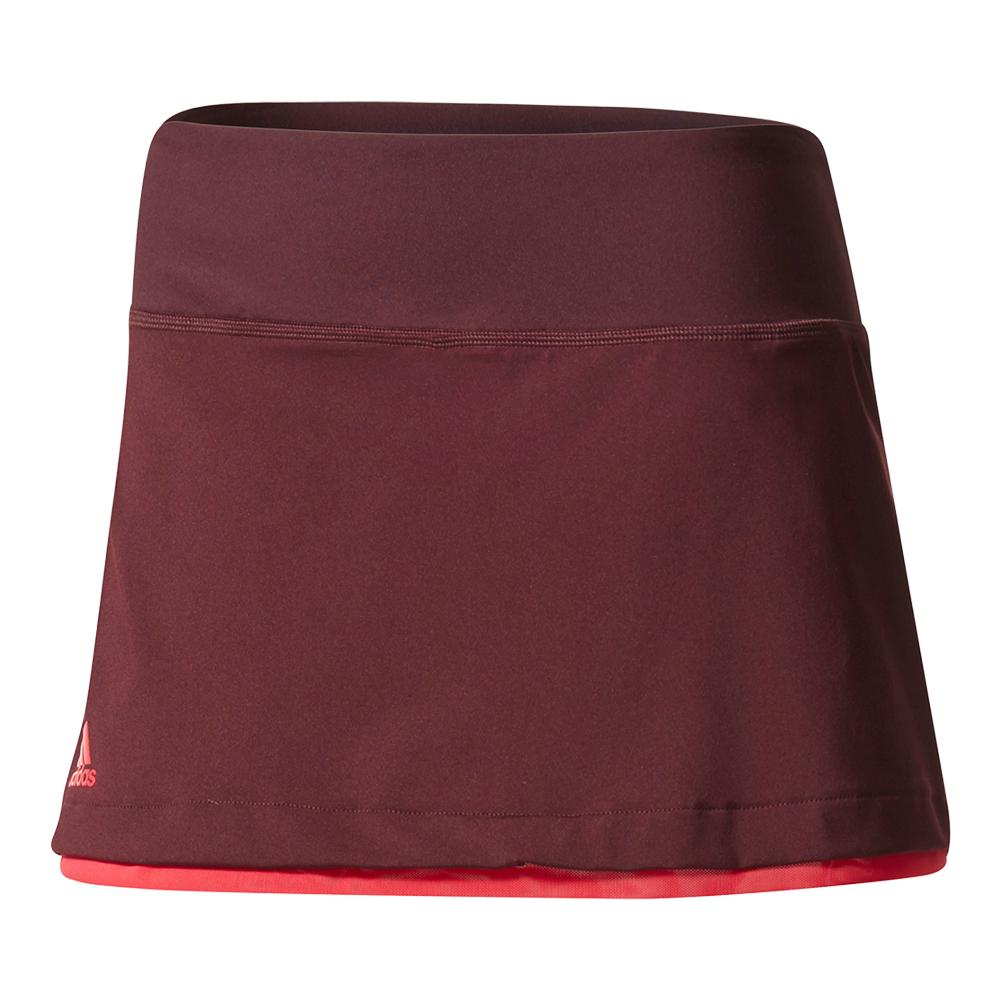 Women's Us Series 13.5 Inch Tennis Skirt Dark Burgundy