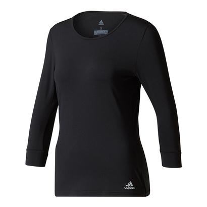 Women`s Advantage Three Quarter Sleeve Tennis Tee Black