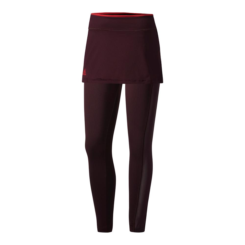 Women's Us Open Series Tennis Leggings Dark Burgundy