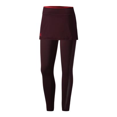 Women`s US Open Series Tennis Leggings Dark Burgundy
