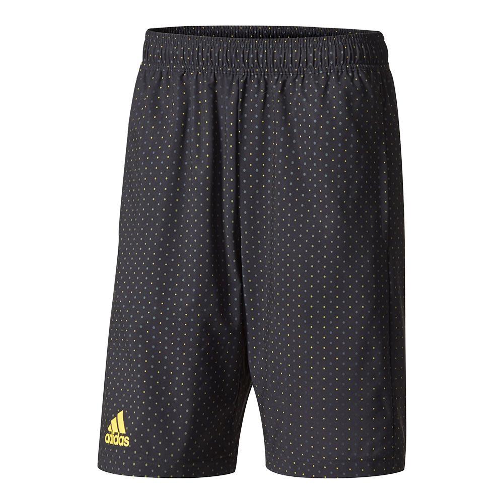 Men's Advantage Trend Bermuda Tennis Short Black And Eqt Yellow