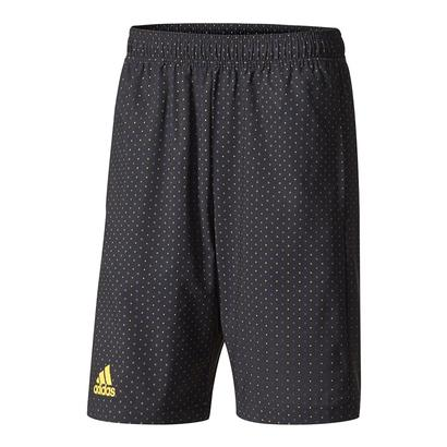 Men`s Advantage Trend Bermuda Tennis Short Black and Eqt Yellow